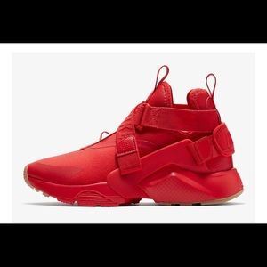Brand new red Nike hurrache city shoes